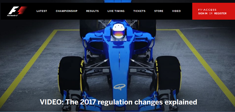 f1 official site